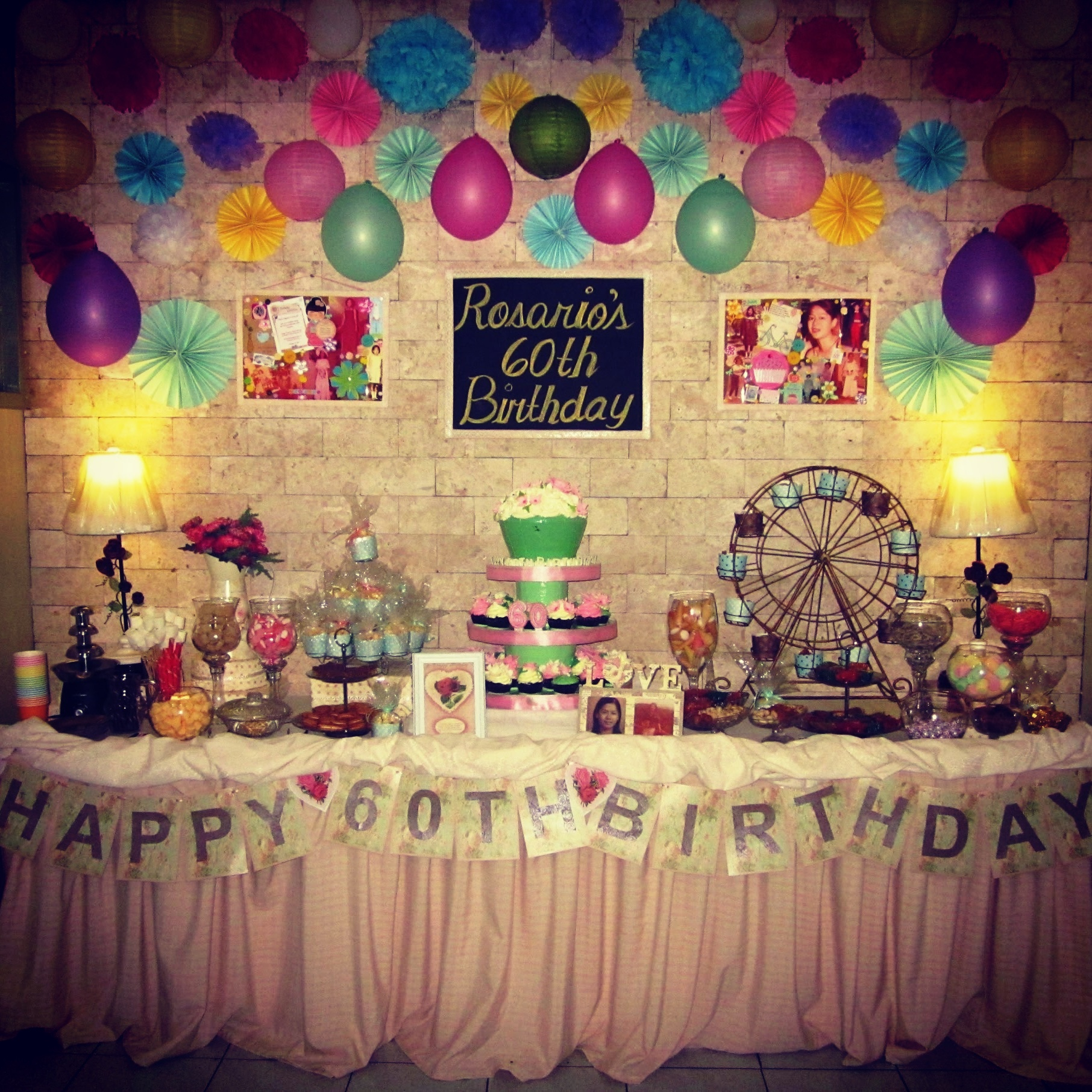 Mom s sweet sixty birthday party angela christi 39 s online for 21st birthday decoration packages
