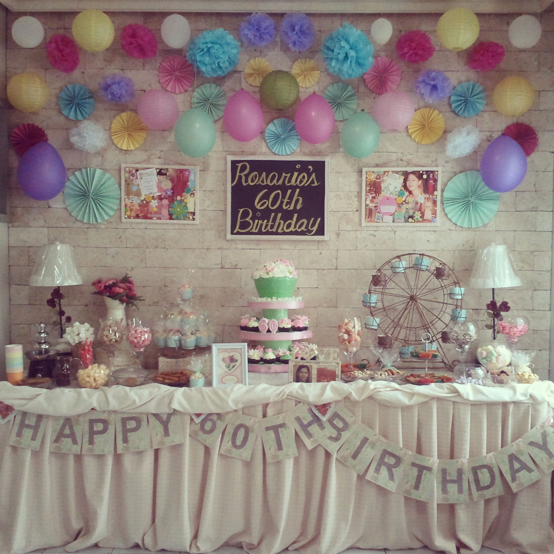 Mom s sweet sixty birthday party angela christi 39 s online for 60th birthday decoration ideas