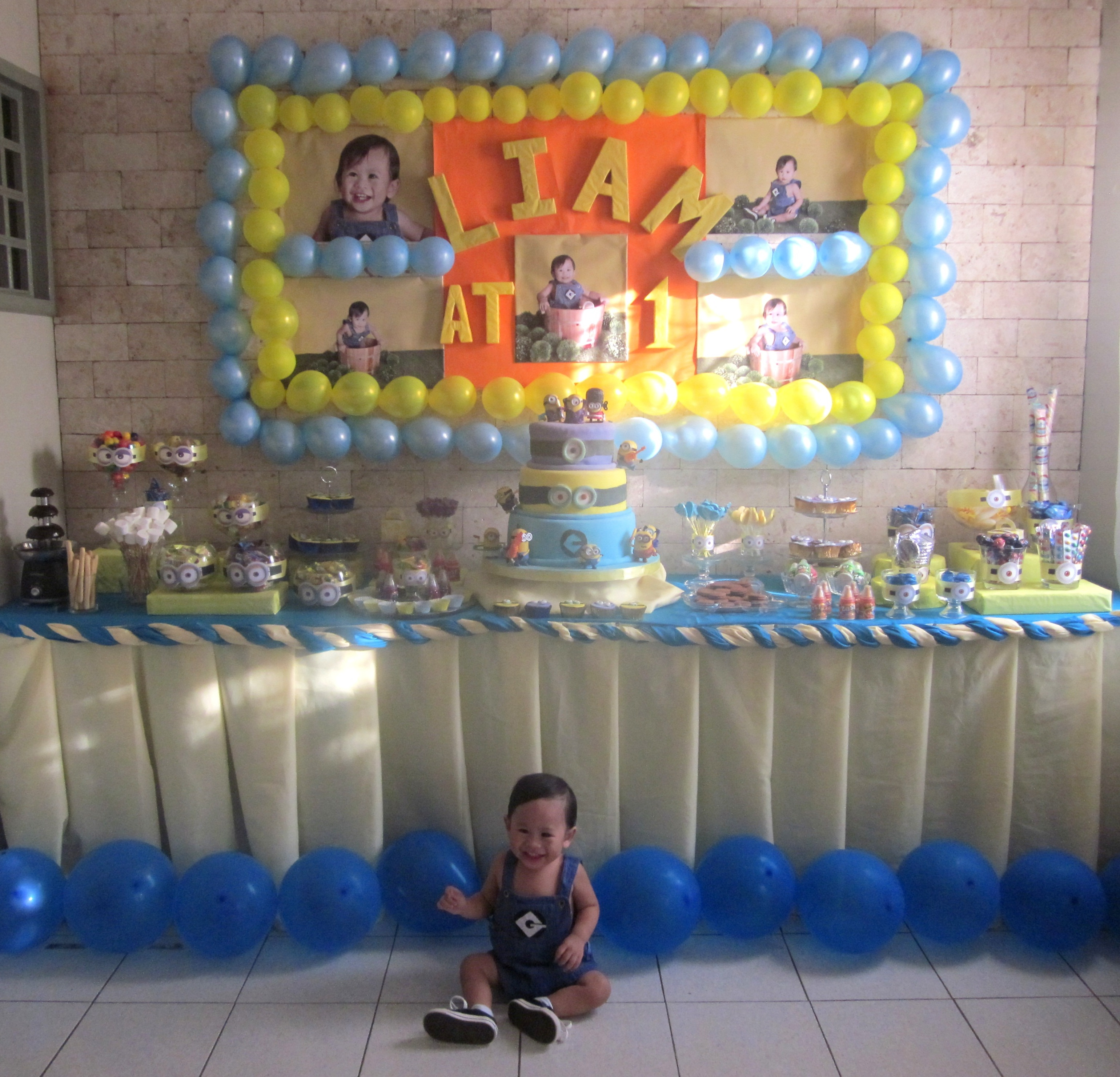 Liams 1st Minion Themed Birthday Party Angela Christis Online Diary