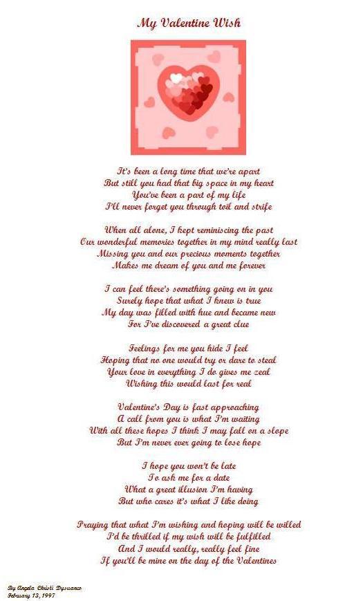 My Valentine Wish